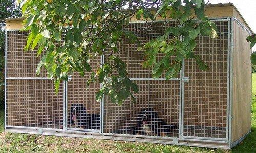 Kotec pro psy s dělící stěnou 2 x 4